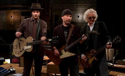 Jack White, The Edge und Jimmy Page